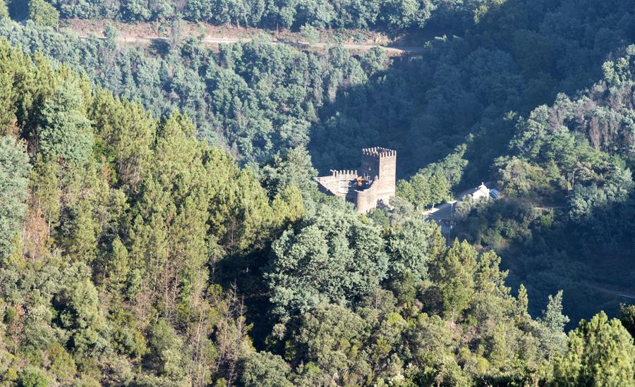 Vista do Talasnal do Castelo da Lousã