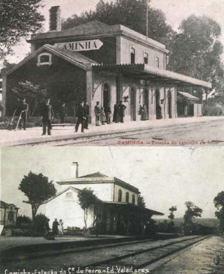 Imagens antigas da estação de Caminha  ©IP Património