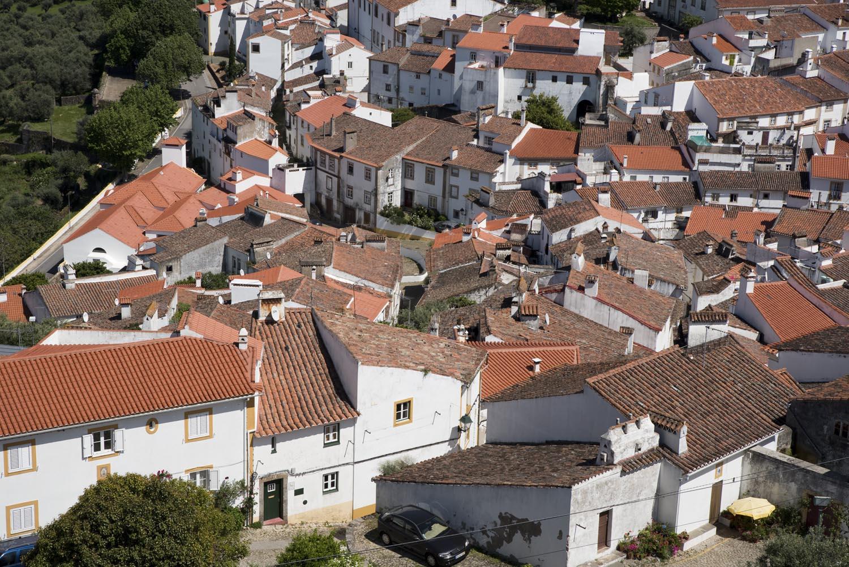 A judiaria vista do castelo de Castelo de Vide