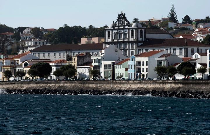 Vista da Horta a partir da marina