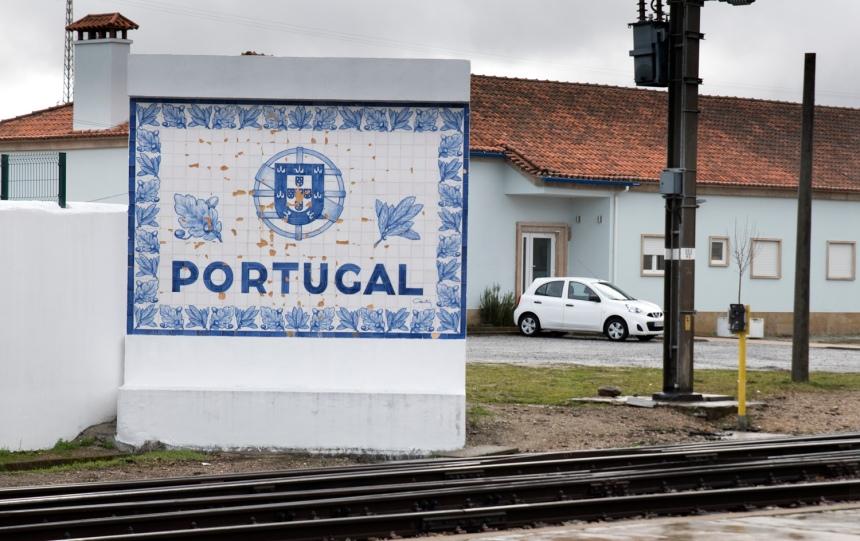 Indicação da estação de entrada em Portugal