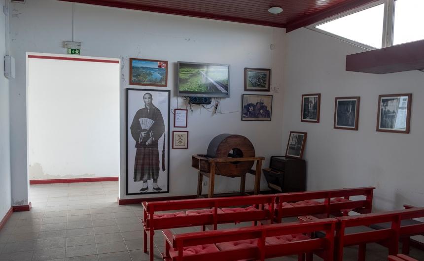 Recepção na Gorreana com video de introdução à industria do chá nos Açores