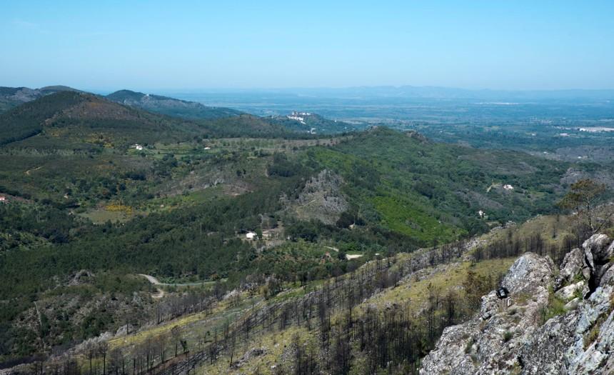 Vista de Marvão para Castelo de Vide