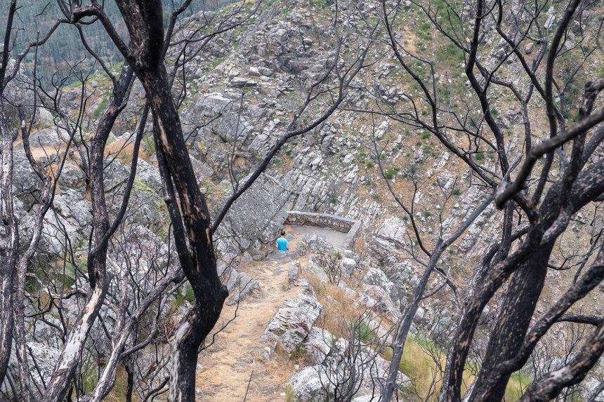 Pequeno miradouro no Cerro da Candosa próximo do desfiladeiro