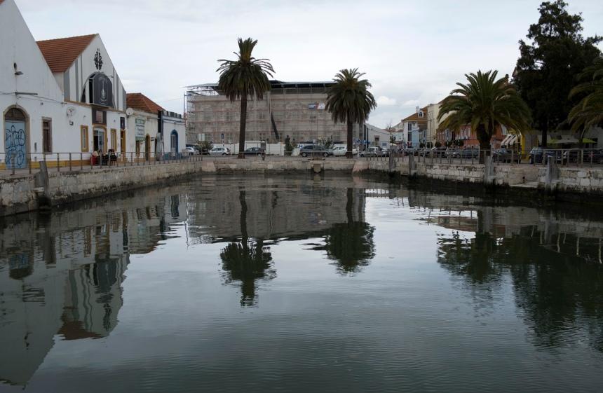 Hoje o moinho está inserido no espaço de lazer do Cais de Aldeia Galega