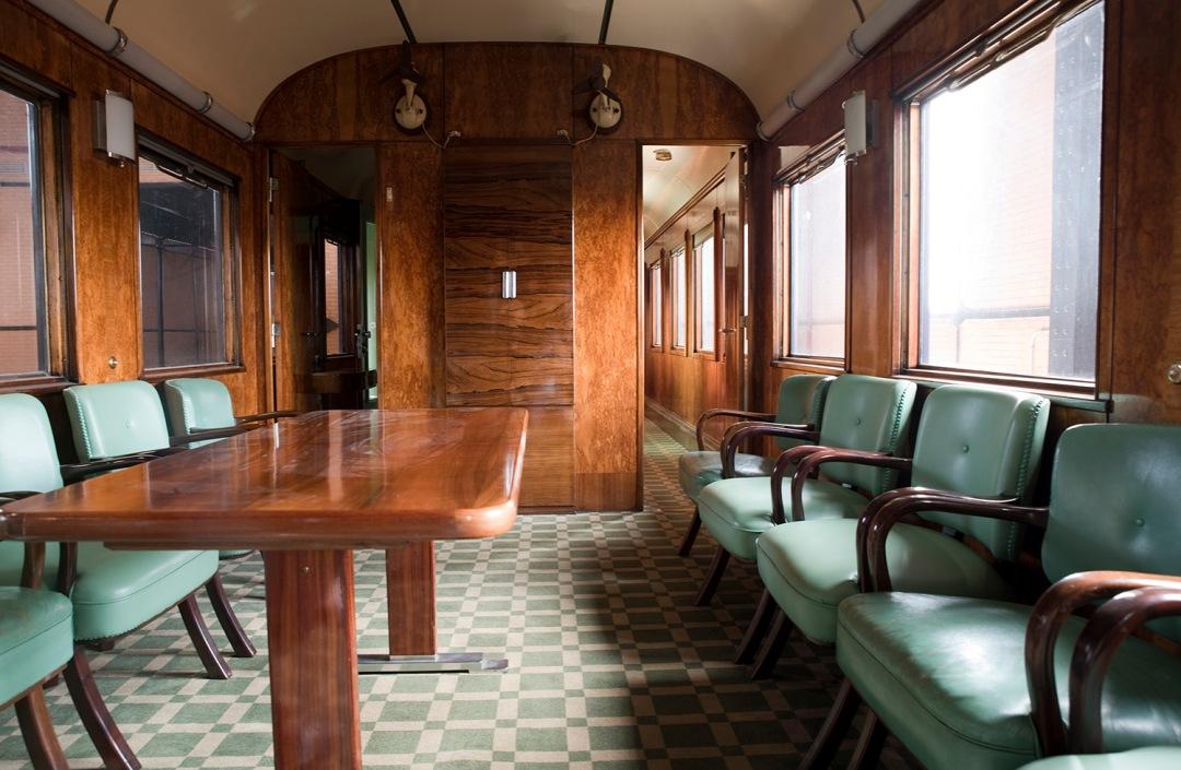 Interior do Comboio Presidencial