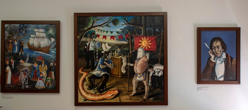 Bocage e a sua obra em pinturas contemporâneas