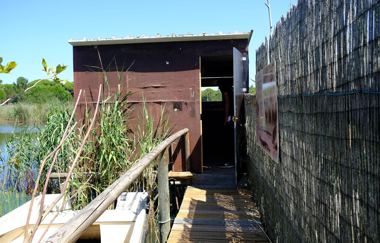 Um dos três observatório de aves