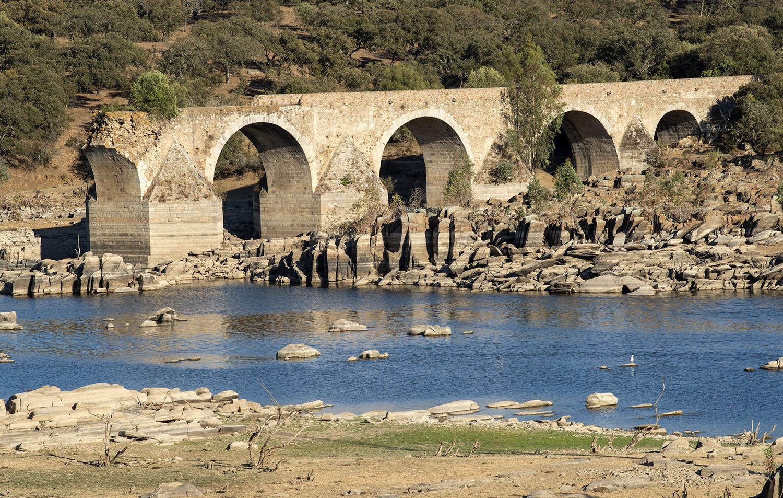 O que resta da ponte do lado de Olivença