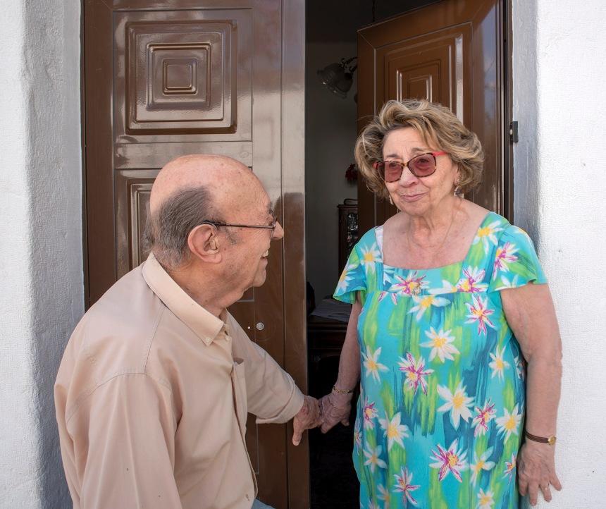 Elvira Rodrigues e o marido