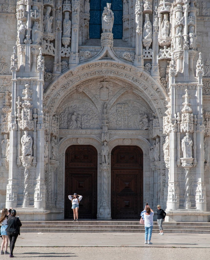 Entrada da Igreja de Santa Maria de Belém