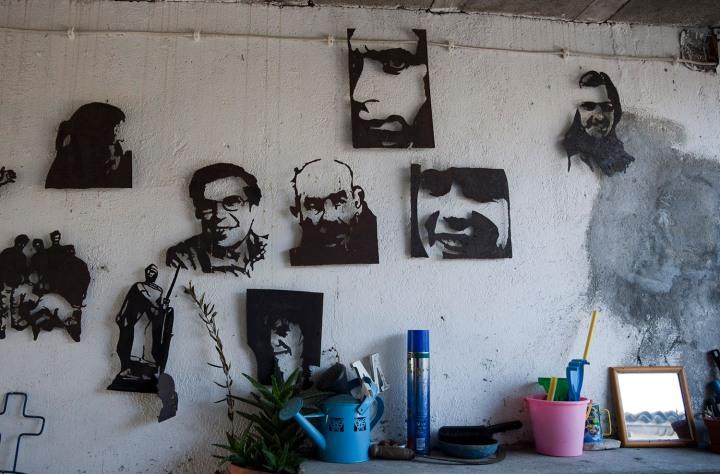 Trabalhos de Rui Miragaia na casa dos pais em Donfins