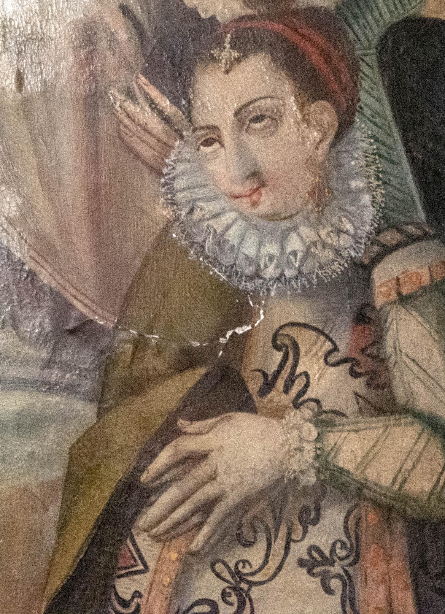 Violante Andrade - retrato numa pintura da igreja da Misericórdia de Algodres