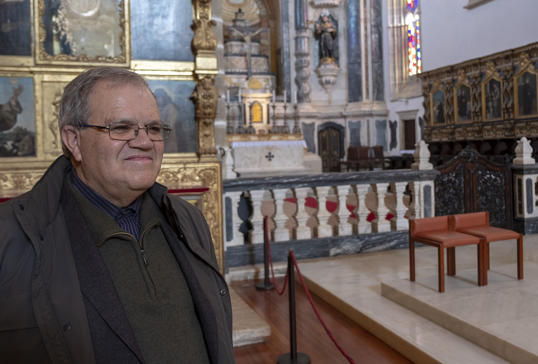 Padre Manuel Ferreira na Igreja de S. Francisco