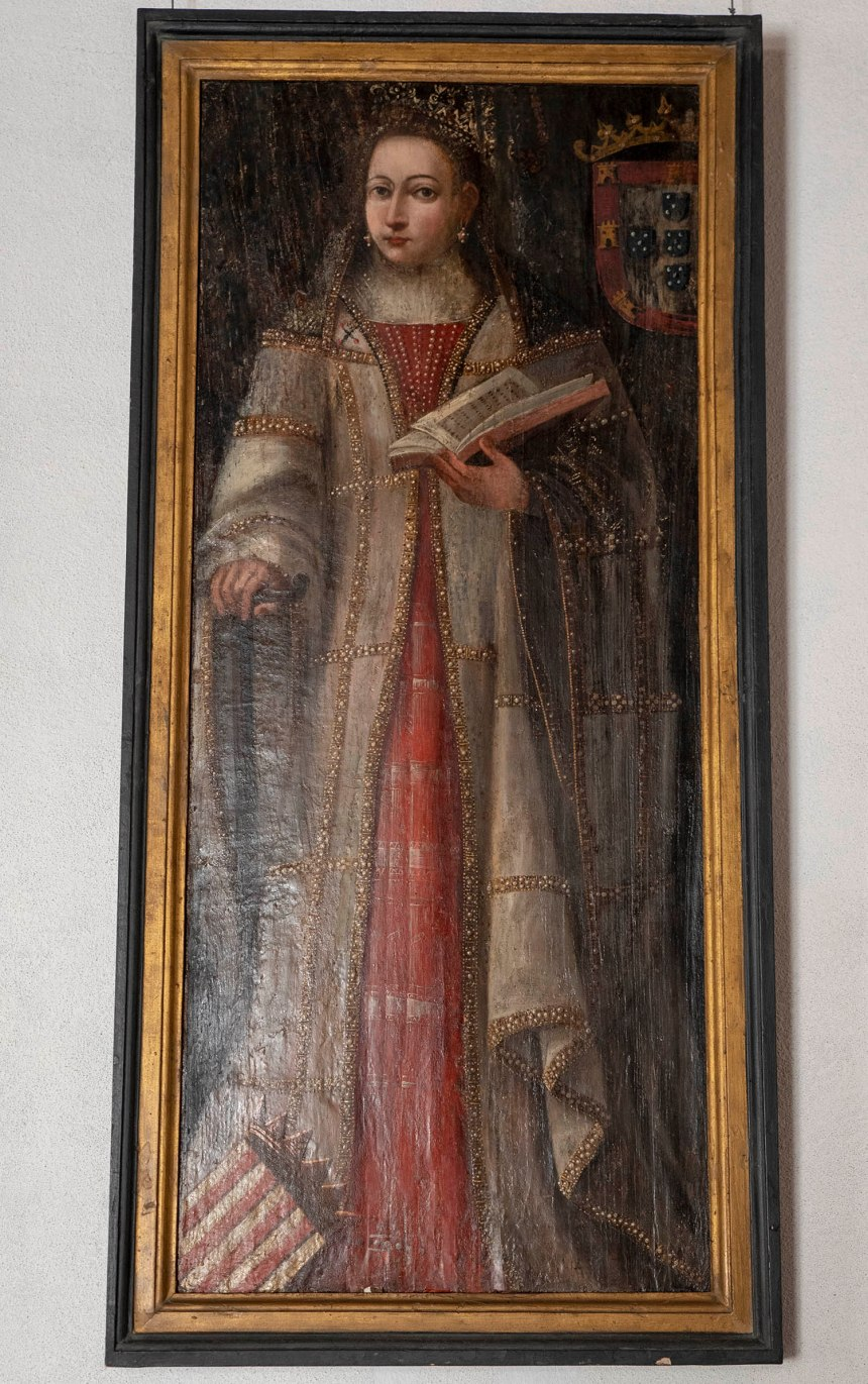 Retrato invulgar da Rainha Santa Isabel