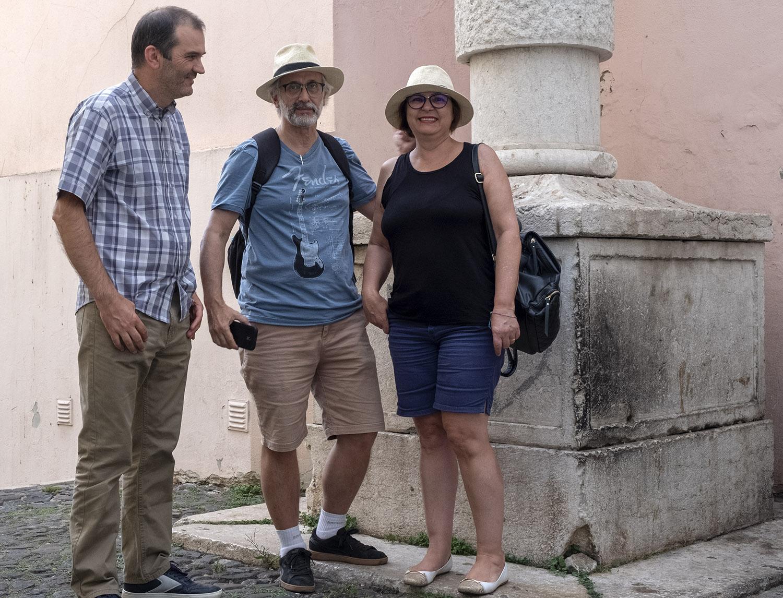 João Frazão e a familia. Maria do Carmo vive no Brasile e nasceu em Souropires