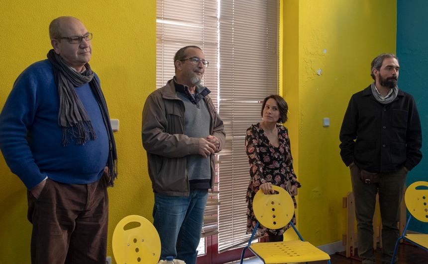 Miguel Horta numa sessão em Alenquer, na biblioteca municipal