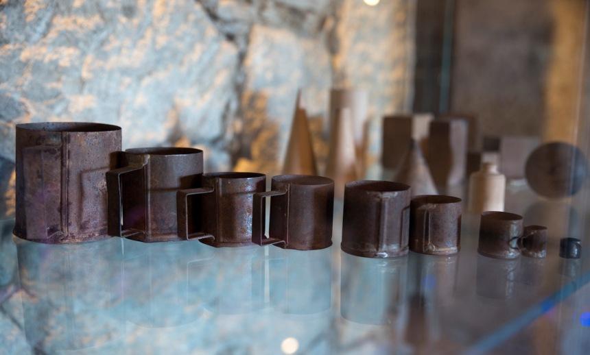 Objetos em exposição no museu