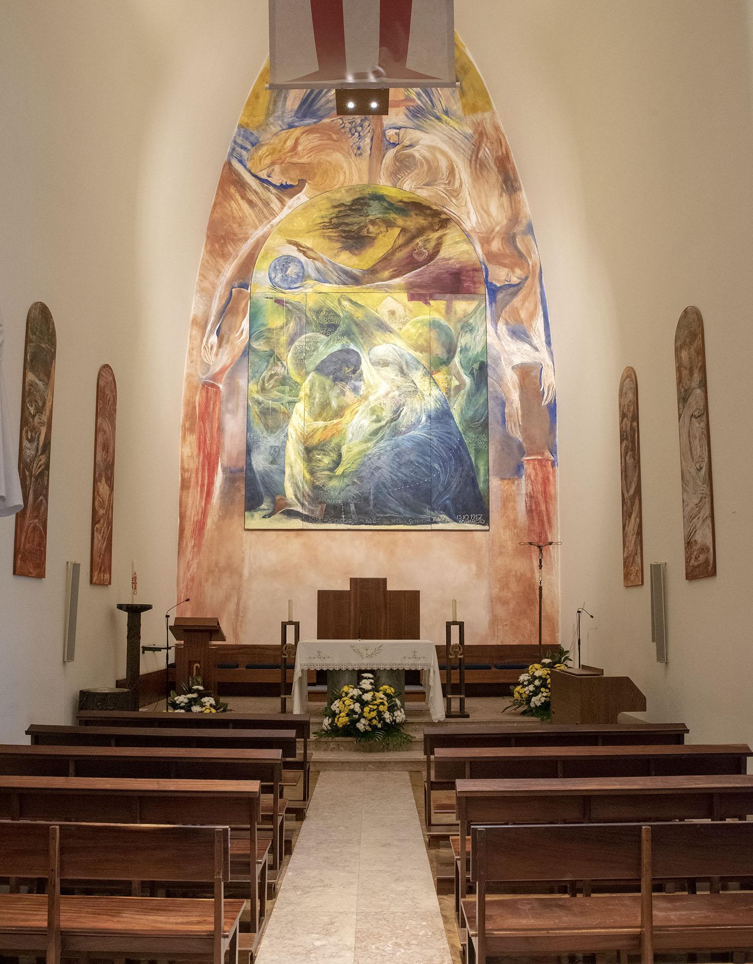 Igreja no Santuário do Cristo Rei em Almada